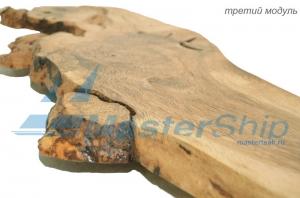 Модульное панно из дубовых мини-слэбов